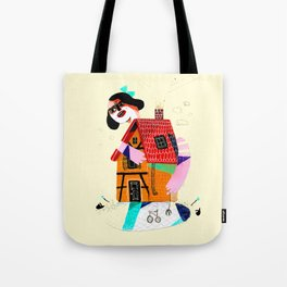 Girl in House Tote Bag