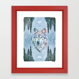 Wolf in the Woods Framed Art Print