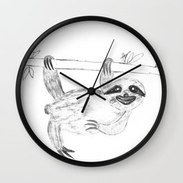 Maya's Sloth Wall Clock