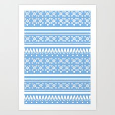 Christmas Jumper Blue Art Print