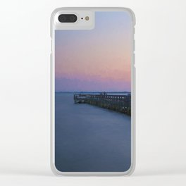 Hilton Pier at Sunset Clear iPhone Case