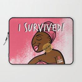 I Fought. I Won. I Survived. (Breast Cancer) Laptop Sleeve
