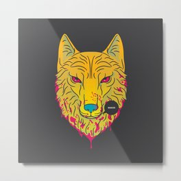 The Unbridled Anger of a Decapitated Direwolf Metal Print