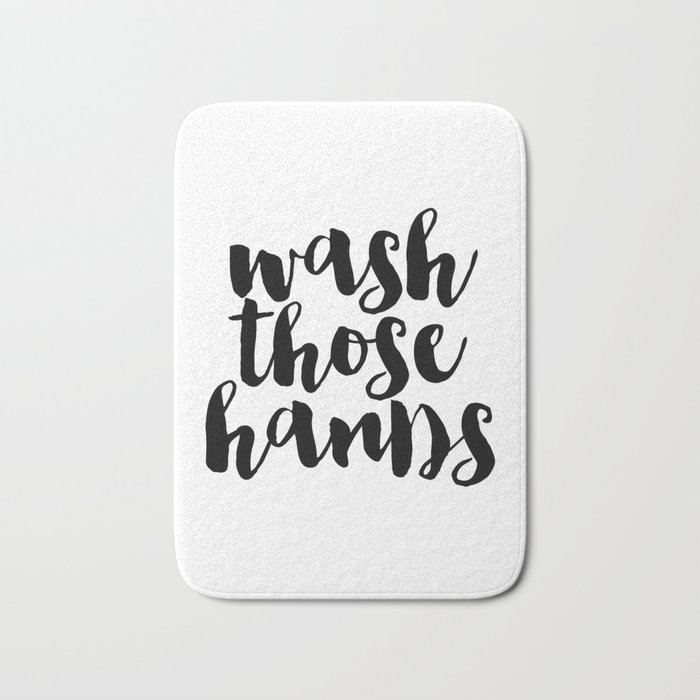 Wash Those Hands hands bathroom art bathroom sign printable hand ...
