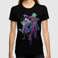 Halloween Time Black Womens Fitted Tee X-LARGE