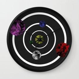Orbits Of Colour Wall Clock