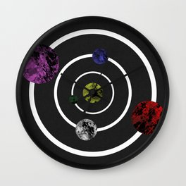 Orbits Of Colour Wall Clock