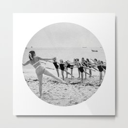 Aerobics On Beach Metal Print