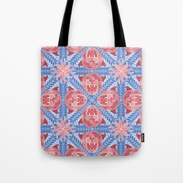 Pink Panther Pattern Tote Bag