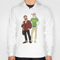 legolas Hoodies featuring Hipster Legolas and Gimli by Nautilus Gifticus
