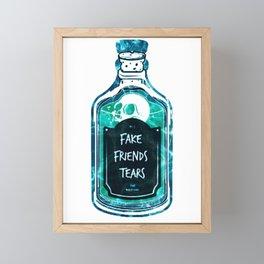 No more fake Friends just fake friends tears Framed Mini Art Print