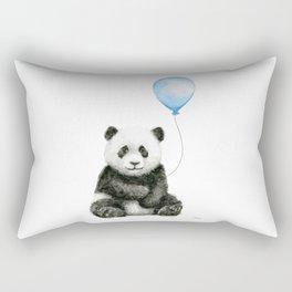 Panda Baby Animal with Blue Balloon Rectangular Pillow