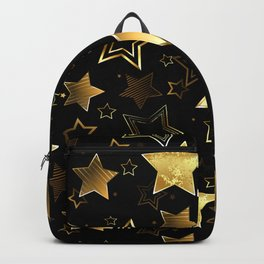 Seamless with Golden Stars Backpack