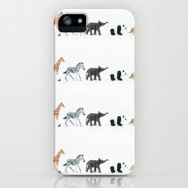 ANIMALS IN LINE N2 iPhone Case
