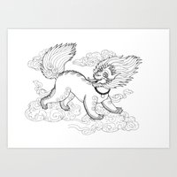 Snow Lion Art Print