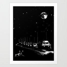 Lunar Convoy Art Print