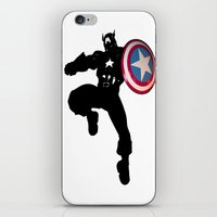 captain iPhone & iPod Skins featuring Captain by Whimsy Notions Designs
