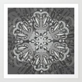Gray Ombre Tapestry and Bohemian Ombre Mandala Bedding #society6 #decor #buyart #artprint Art Print