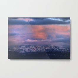 After snowing at sunset. Alayos Mountains. Sierra Nevada National park Metal Print