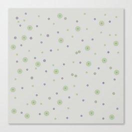 Gentle Green Dots Canvas Print