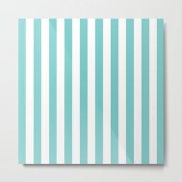 Vertical Aqua Stripes Metal Print
