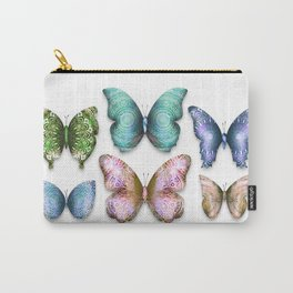 Butterfly Taxidermy 6 // Beautiful Mandala Detailed Wings Design // Emerald Purple Pink Blue Gold Carry-All Pouch