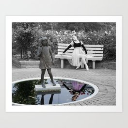 Ballerina Reflects True Colors Art Print