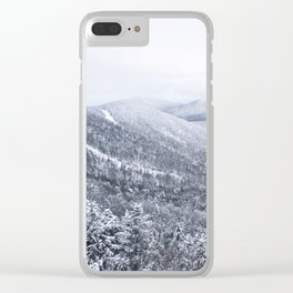 Vermont Winter Mountains Clear iPhone Case
