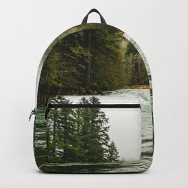 Wanderlust Forest River - Mountain Adventure in Foggy Woods Backpack