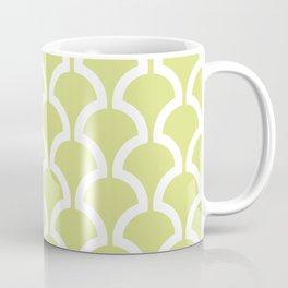 Classic Fan or Scallop Pattern 731 Chartreuse Coffee Mug