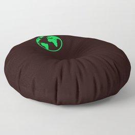 The World Spins Onward Floor Pillow
