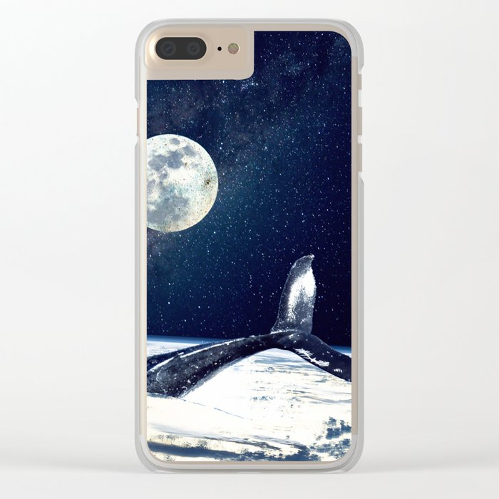 Stay in Space Clear iPhone Case
