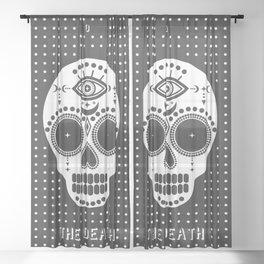 Minimal Tarot Deck The Death Sheer Curtain
