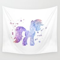 my little pony Wall Tapestries featuring My Little Pony by Carma Zoe