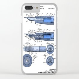 Fountain pen patent Clear iPhone Case