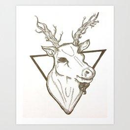 Little Deer Deer Art Print