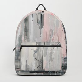Soft Pink Abstract Backpack