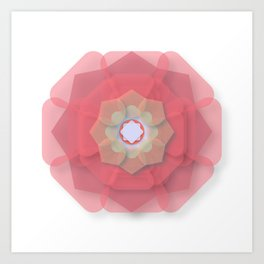 Pink Floral Meditation Art Print