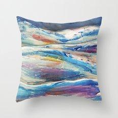 3D Ocean waves Throw Pillow