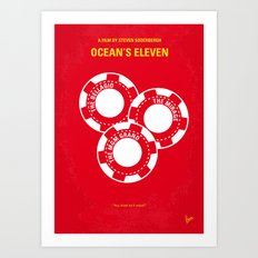 No056 My Oceans 11 minimal movie poster Art Print