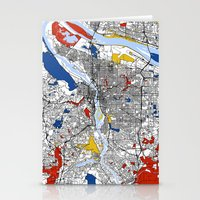 portland Stationery Cards featuring Portland by Mondrian Maps