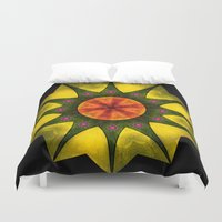polygon Duvet Covers featuring Star polygon by LudaNayvelt