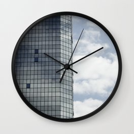 Reflections and clouds Wall Clock