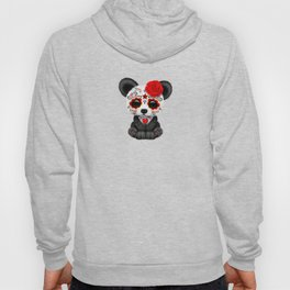 Red Day of the Dead Sugar Skull Panda Hoody