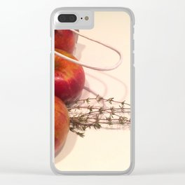 Apples and Thyme Clear iPhone Case