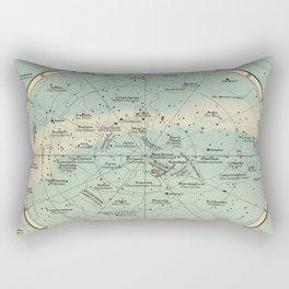 Vintage Star Constellations Map (1895) Rectangular Pillow