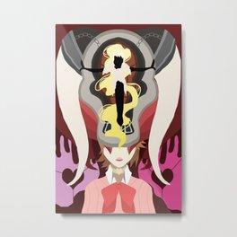 Pink Fury Metal Print