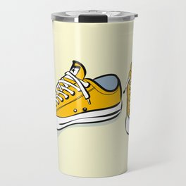 Yellow Sneakers Travel Mug