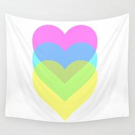 Polarized Hearts Wall Tapestry