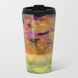 Peace in the Storm - Abstract Bronze Tranquility Travel Mug